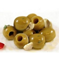 Olive verde all'aglio